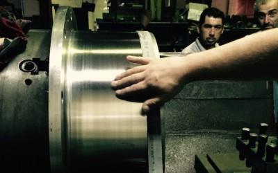 Chrome steel liner machining